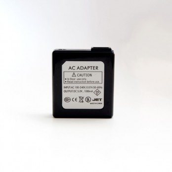 Wall-to-USB Black Charging Adaptor - 110 volt~5 volt (1000mAh)