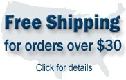 Free Shipping for orders over $30