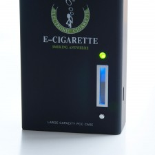 901 E-Cig PCC Charging Case with Built-in Battery and Battery Meter - Black