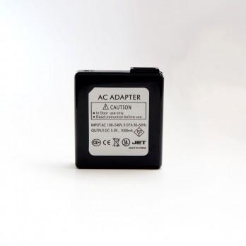 Wall-to-USB Black Charging Adaptor - 110 volt~5 volt (1000mAh)