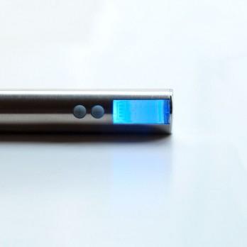 EGO-V Battery with LCD - variable voltage 3.0-6.0V - Brushed Metal